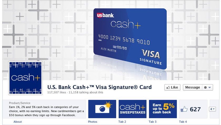 US Bank Cash+ Facebook and App Strategy