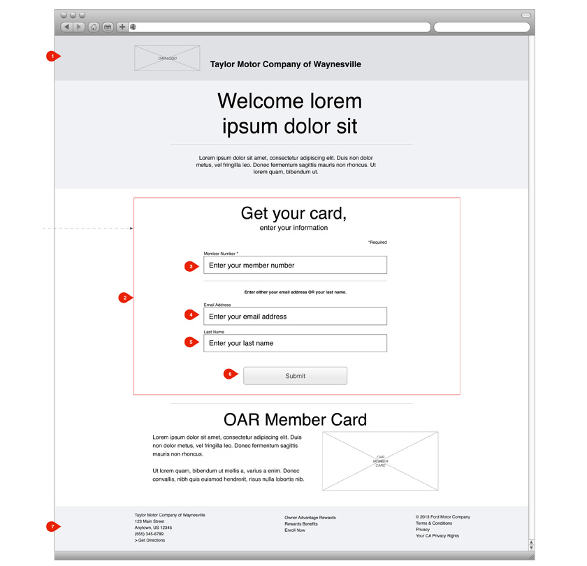 Ford Motor Company Responsive Passbook and Virtual Member Card Website